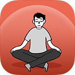 Icon of person meditating
